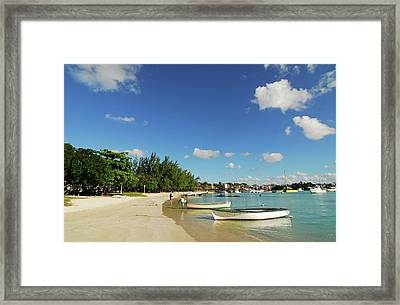 Mauritius, Grand Baie, Boat At Water's Framed Print by Anthony Asael
