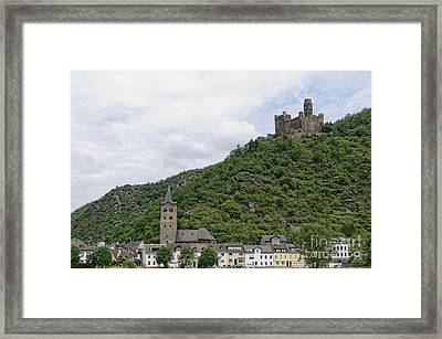 Maus Castle In Germany Framed Print by Oscar Gutierrez