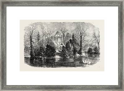 Mausoleum At Frogmore Intended For The Reception Framed Print by English School
