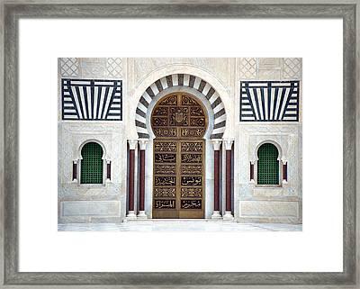 Mausoleum Doors Framed Print