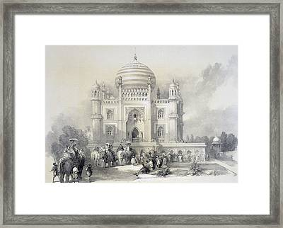 Mausoleum Of Jufhir Junge, Delhi Framed Print by English School