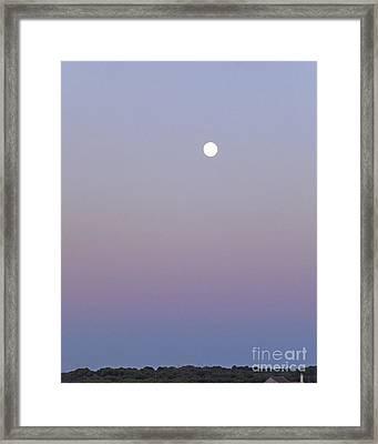 Mauve Moonlight Framed Print