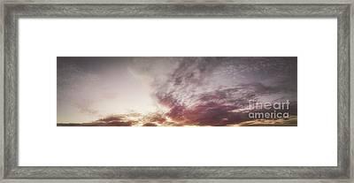 Mauve Skies Framed Print by Holly Martin