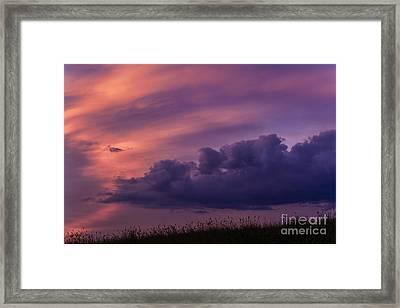 Mauve Sunrise Framed Print by Thomas R Fletcher