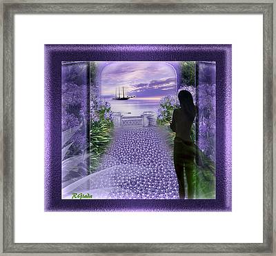 Mauve Waiting Framed Print by Giada Rossi