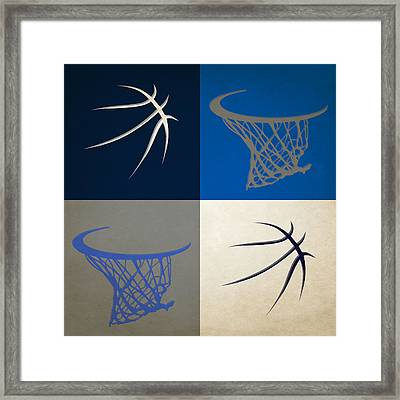Mavericks Ball And Hoop Framed Print
