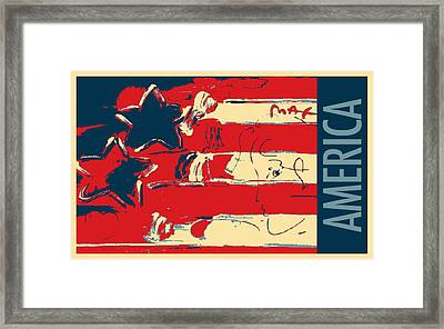 Max Americana In Hope Framed Print by Rob Hans