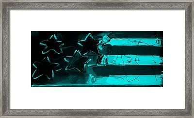 Max Americana In Turquois Framed Print by Rob Hans