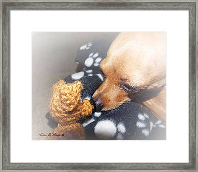 Max And His Mini Me Framed Print