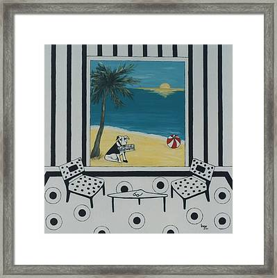 Max And The Miami Herald Framed Print