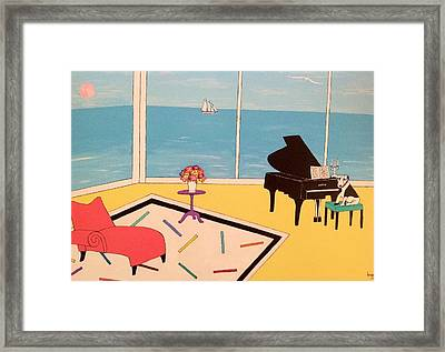 Max At The Piao Framed Print