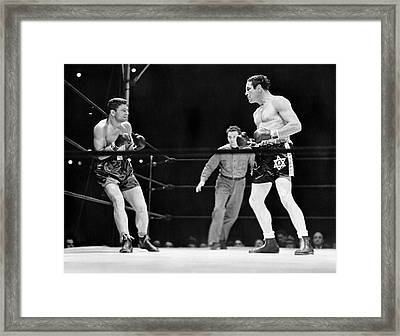 Max Baer And Lou Nova Boxing Framed Print by Underwood & Underwood