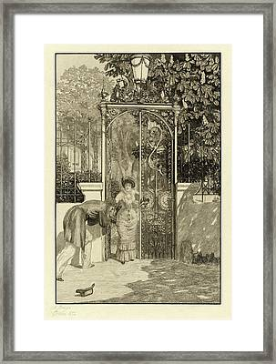 Max Klinger, At The Gate Am Thor Pl Framed Print by Quint Lox