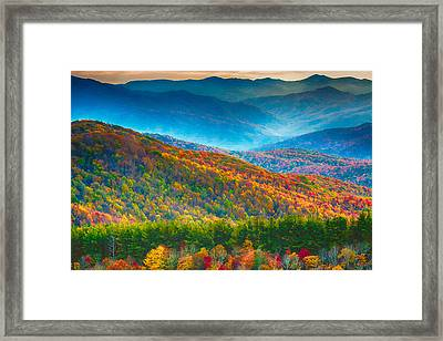 Max Patch Bald Fall Colors Framed Print