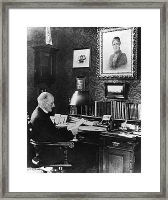 Max Planck Framed Print by Emilio Segre Visual Archives/american Institute Of Physics