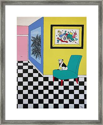 Max Relaxing  Framed Print