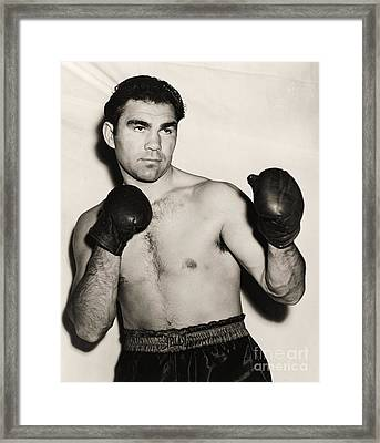 Max Schmeling Framed Print by Pg Reproductions