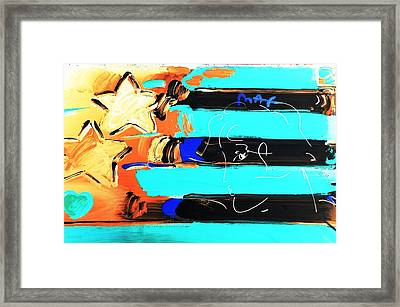 Max Stars And Stripes In Inverted Colors Framed Print by Rob Hans