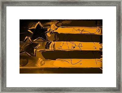 Max Stars And Stripes In Orange Framed Print by Rob Hans