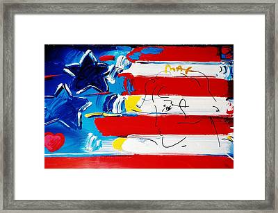 Max Stars And Stripes Framed Print by Rob Hans