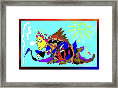 Framed Print featuring the digital art Max The Magic Dragon by Hartmut Jager