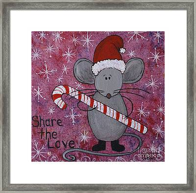 Max The Mouse Framed Print by Jane Chesnut