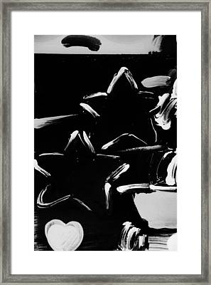 Max Two Stars In Black And White Framed Print