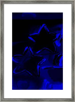Max Two Stars In Blue Framed Print by Rob Hans