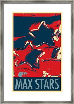 Max Two Stars In Hope Framed Print by Rob Hans
