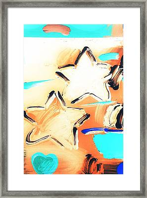 Max Two Stars In Inverted Colors Framed Print by Rob Hans