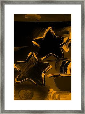 Max Two Stars In Orange Framed Print by Rob Hans