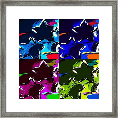 Max Two Stars In Pf Quad Colors Framed Print