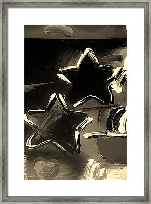 Max Two Stars In Sepia Framed Print by Rob Hans