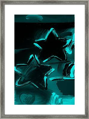 Max Two Stars In Turquois Framed Print by Rob Hans