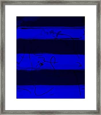 Max Woman In Blue Framed Print by Rob Hans