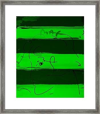 Max Woman In Green Framed Print by Rob Hans
