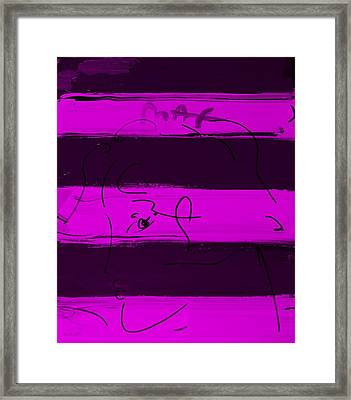 Max Woman In Purple Framed Print by Rob Hans