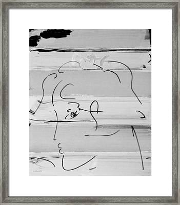 Max Women In Black And White Framed Print by Rob Hans