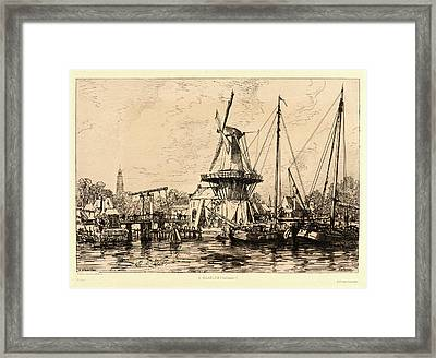 Maxime Lalanne French, 1827 - 1886. À Haarlem Hollande Framed Print by Litz Collection