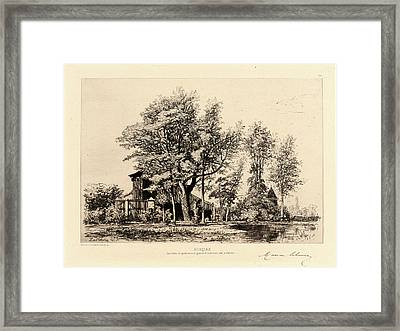 Maxime Lalanne French, 1827 - 1886. Acacias Framed Print by Litz Collection