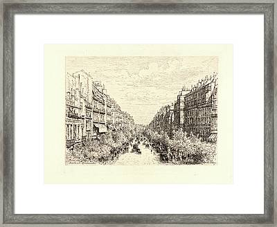Maxime Lalanne French, 1827 - 1886. Boulevard Montmartre Framed Print by Litz Collection