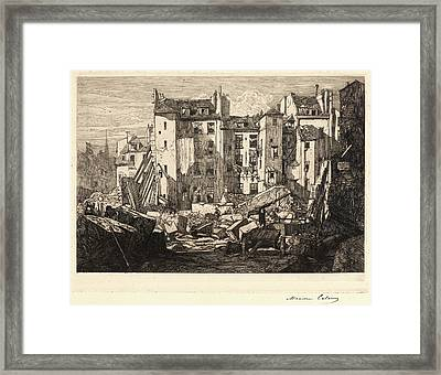 Maxime Lalanne French, 1827 - 1886. Demolition Framed Print by Litz Collection