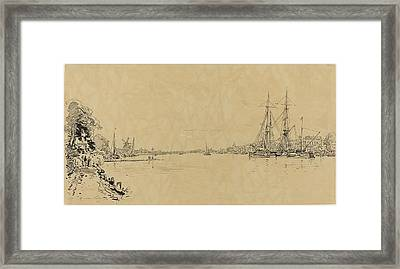 Maxime Lalanne French, 1827 - 1886, Dutch View Framed Print by Quint Lox
