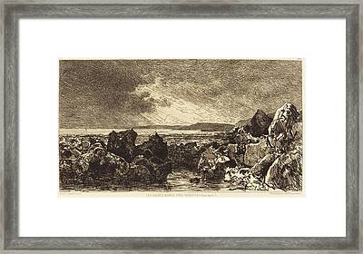 Maxime Lalanne French, 1827 - 1886, Les Roches Noires Près Framed Print by Quint Lox