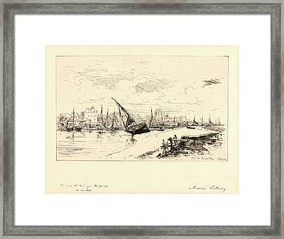 Maxime Lalanne French, 1827 - 1886. Port De Trouville Framed Print by Litz Collection