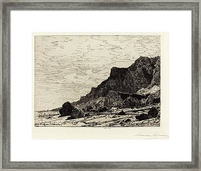 Maxime Lalanne French, 1827 - 1886, Près Houlgate Calvados Framed Print by Quint Lox