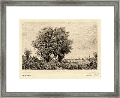 Maxime Lalanne French, 1827 - 1886. The Elms Of Cenon Les Framed Print by Litz Collection