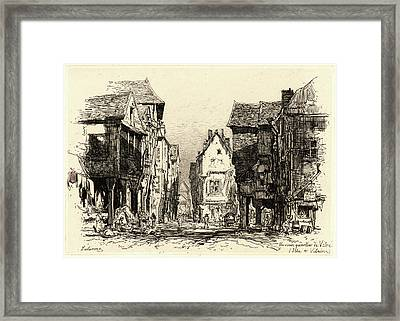 Maxime Lalanne French, 1827 - 1886. The Old Quarter Framed Print by Litz Collection