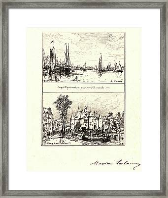 Maxime Lalanne French, 1827 - 1886. To Antwerp Framed Print by Litz Collection