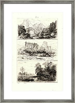 Maxime Lalanne French, 1827 - 1886. Treatise On Etching Framed Print by Litz Collection